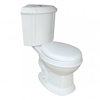 White Dual Flush Round Corner Toilet Grade A Vitreous China