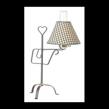 Table Lamp Black Wrought Iron Table Lamp Green Shade 245H