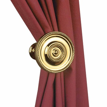 Solid Brass Curtain Tieback Holder RSF Finish 314 Dia